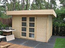 28 mm Gartenhaus Hypermodern ca. 320x260 cm (unbehandelt)
