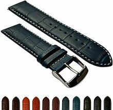 28mm Uhrenarmband echt Leder Mock Croc Band
