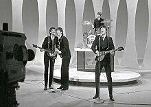 28/The Beatles/John Lennon/Paul McCartney/George Harrison/Ringo Starr Great Rock Metal-Album Cover Musik-Band, Best Bilderrahmen für DIN A3, Poster-Prin