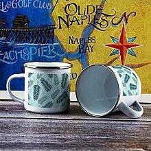 284 ml Emaille Tasse Lustig Kaffeetasse Design