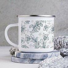 284 ml Emaille Tasse Lustige Kaffeetasse Blatt