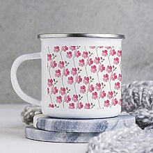 284 ml Emaille Tasse Lustige Kaffeetasse Design