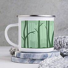 284 ml Emaille Tasse Lustige Kaffeetasse Grüner