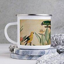 284 ml Emaille Tasse Lustige Kaffeetasse Malerei