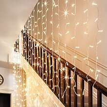 288er LED Lichtervorhang warmweiß, 2m x 3m, Typ CC