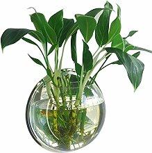 29.5 cm Durchmesser Clear Style Acryl Runde Wall Mount hängenden Fisch Schüssel Tank Blume Pflanze Vase Home Dekoration
