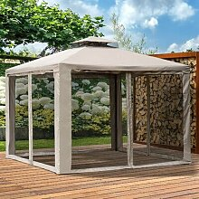 295 cm x 295 cm Pop-Up Pavillon Josey aus Metall