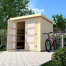 299 cm x 250 cm Fahrradgarage aus Massivholz Weka