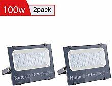 2er 100W LED Strahler 10000LM Superhell Fluter