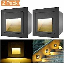 [ 2er ] 3W LED Treppenlicht Boden Einbauleuchte