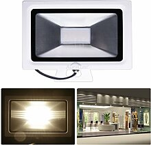 2er Auralum® 2 Jahre Garantie Hochwertig 50W IP65 3700LM 220V LED Scheinwerfer Fluter Außenleuchte SMD120*3020LED Ra>80 4000-4500K Neutralweiß Ultraslim