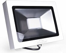 2er Auralum® Original Außenleuchte Hochwertig 30W IP65 2250LM 220V LED Scheinwerfer Fluter SMD80*3020LED Ra>80 6000-6500K Weiß Ultraslim