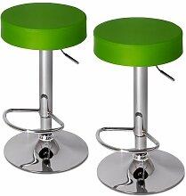 2er Barhocker Barsessel Küchenhocker mit Fußablage drehbar und höhenverstellbar (Farbwahl)