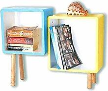 2er Cube Regal Holz Regal Regalwürfel Wandregal