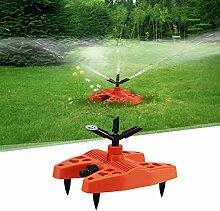 2er FINE DRAGON 360° Automatische Gartensprinkler Gartenbewässerung Rasen Sprenger Wasser Sprinkler Rasensprenger Sprinklersystem