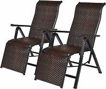 2er Liegestuhl klappbar, Relaxliege mit