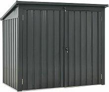 2er Mülltonnenbox Genk 1,6m² in Grau | 2