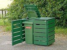 2er Mülltonnenbox / Mülltonnenverkleidung 120 L