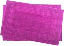 2er Pack 60 x 100 cm Julie Julsen Badvorleger in Premium Qualität 900 gm2 in aktuellen Farben und 4 Größen aus Baumwolle Badematte Badteppich Duschvorleger Design Spirale Pink