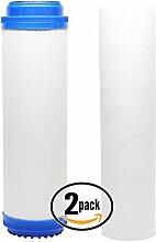 2er Pack Ersatz-Filter Kit für 3M Aqua-Pure ap2610ss RO System–inklusive Polypropylen Sediment Filter & Granulat Aktivkohle Filter–Denali Pure Marke