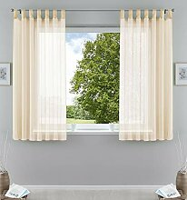 2er-Pack Gardinen Transparent Vorhang Set