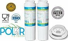 2er Pack of Polar Premium Wasserfilter ersetzen Maytag, Amana, Kenmore, Jenn-Air, Whirlpool, Kitchenaid, UKF8001, UKF8001AXX, UKF - 8001P, UKF9001, UKF9001AXX, 469006, 469992, 9005, 9006, 469030, 12527304, 4396395, WF295, WF50, SGF-M10