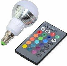 2er RGB LED Birne 3W Farbwechsel Bunte Lampe