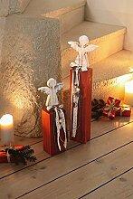 "2er Säule ""Engel"" aus Holz"