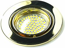 2er Set 230Volt LED SMD Einbaustrahler Alva. Spot