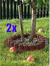 2er Set: 2x Palisade / Rasenkante Kunststoff 4