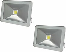 2er Set 30W LED Strahler weiß mit
