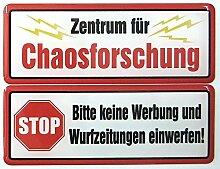 """2er Set 3D-Doming-Aufkleber für Ihren Briefkasten - ca. 8 x 3cm - Lustige Sprüche - """"Keine Werbung + Wahldesign"""" (Chaosforschung)"""