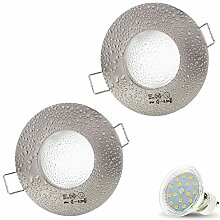 2er Set AQUA IP44 230V LED SMD 4W Warmweiß Decken