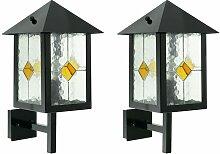 2er Set Außen Wand Leuchte Lampe Tiffany Technik