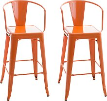 2er Set Barhocker Vasbro-orange