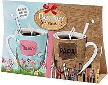 2er Set Becher, Paartassen für MAMA & PAPA Geschenk für dich la vida (14,95 EUR / Stück)