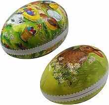 2er Set Bilderostereier zum Befüllen 25 cm bunt sortiert, Osterdekoration, Eier, Füllei, Pappei, Papposterei