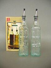 2er Set Country Home Essig und Öl Flaschen 50cl