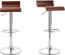 2er Set Design-Barhocker / Küchenhocker aus Holz