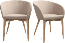 2er-Set Design-Sessel Beige DALIA