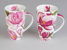 2er Set Dunoon Becher, Tassen Henley Magnolias