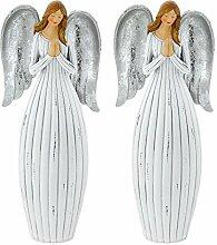 2er Set Engel Weihnachten Dekoration 23 cm Krippe