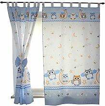 2er Set Gardinen Kinderzimmer Vorhänge mit
