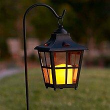 2er Set Gartenlaterne mit LED Kerze Batteriebetrieb Lights4fun