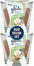 2er Set Glade Decor Duftkerze Duo Bali Sandelholz