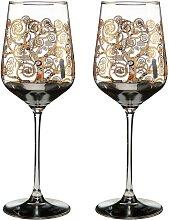 2er Set Gustav Klimt Weinglas Der Lebensbaum H.