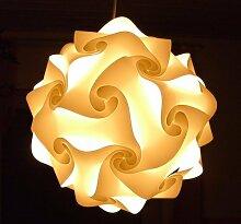 2er Set IQ Puzzle Lampe Grösse XXL Set 30 Puzzleteile ca. 52cm im Durchmesser