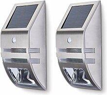 2er SET JVS-LICHT Solarleuchten 0.6W Kaltweiss