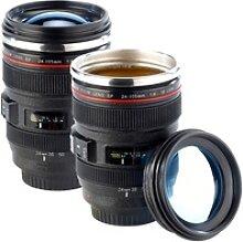 2er-Set Kameraobjektiv-Becher, doppelwandig, innen