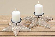 2er Set Kerzenleuchter Kerzenhalter Adventskranz